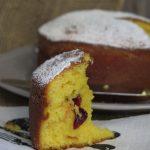 Torta cioccolato bianco e mirtilli rossi