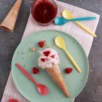 Gelato mascarpone e lamponi senza gelatiera
