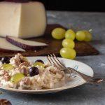 Risotto salsiccia pecorino e uva