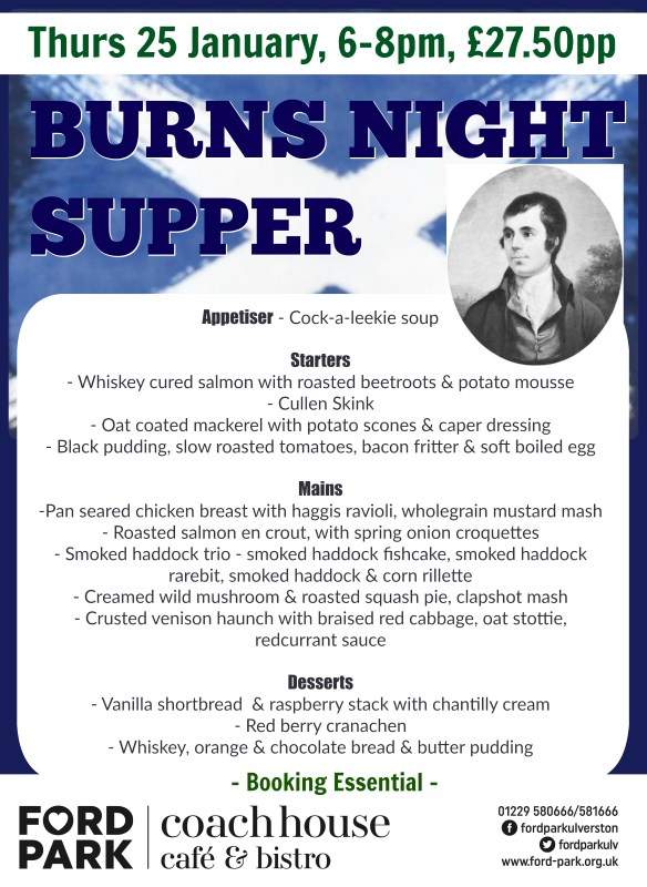 Join us to celebrate Burns Night this month