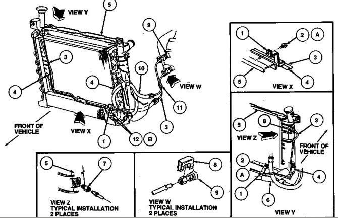 2001 ford taurus engine cooling system diagram  basic