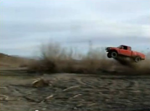 Ford Ranger Leaps to Its Death