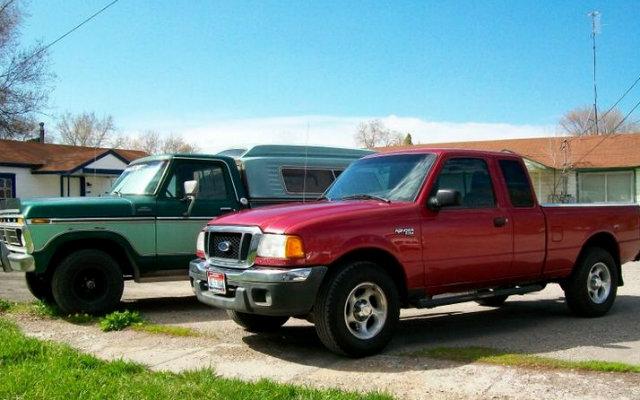 2004 Ford Ranger XLT and 1977 Ford F-150 Ranger 4x4