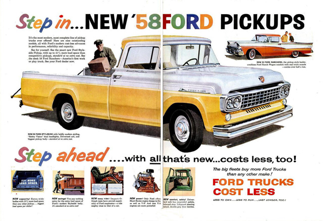 1958 Ford Truck Ad-640a