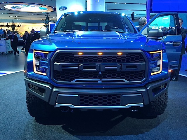 2017 Ford Raptor in Liquid Blue