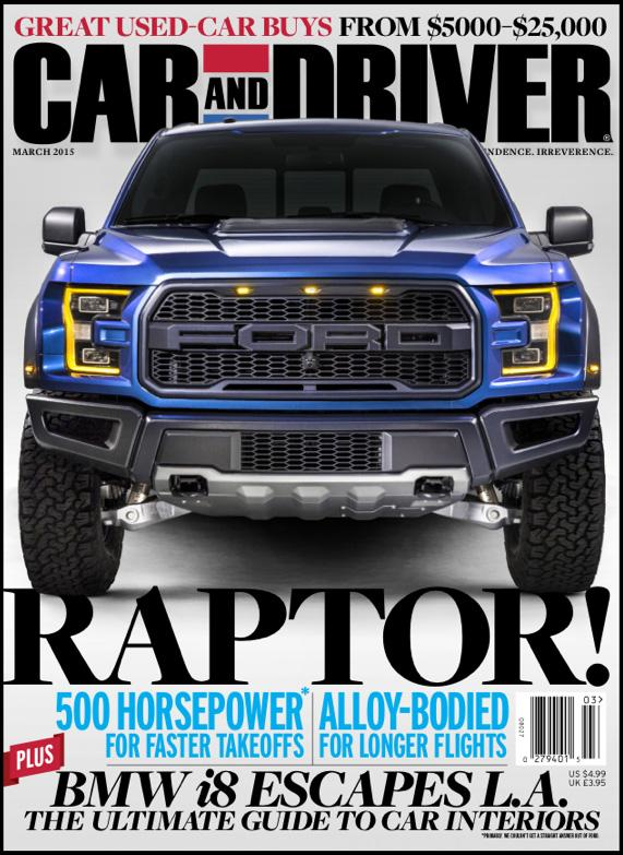 car and driver raptor