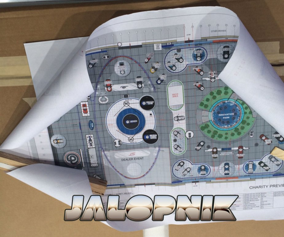 Ford NAIAS Floor Plan