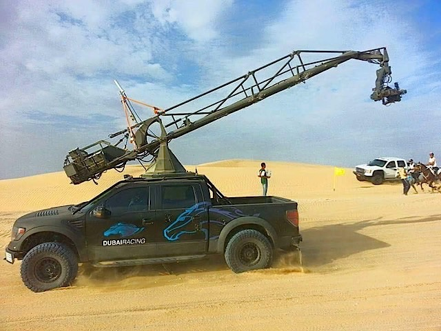 Filming support Raptor in Dubai (Photo: Mike Levine, Twitter)