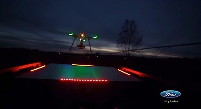 F-150 Drone Landing