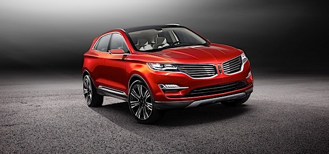 The Lincoln MKC Concept, introduced at the 2013 North American International Auto Show as a vision of how the brand might enter the small premium utility segment, features Chroma Flame, a Lincoln Black Label exclusive exterior color.