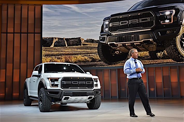 Joe Hinrichs introduces new Ford F-150 Raptor SuperCrew