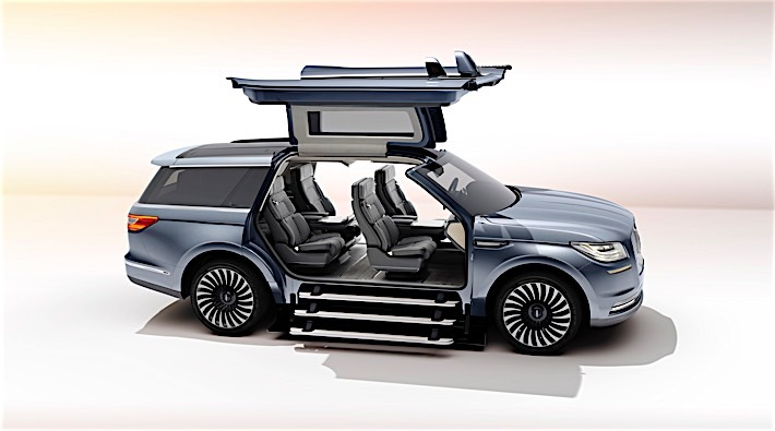 Lincoln Navigator Concept Is A Continental Suv With Gullwing Doors