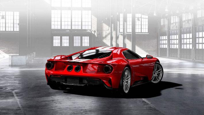 Liquid Red Ford Gt Supercar