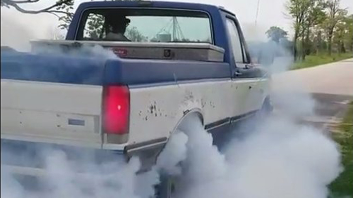blue-and-white-f150-burnout