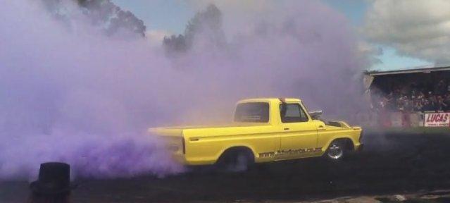 purple ford burnout
