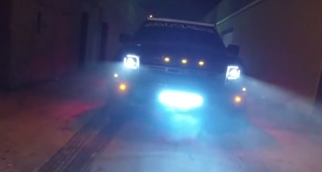 Tire Smokin Ford F 150 Raptor Does A De Light Ful Burnout