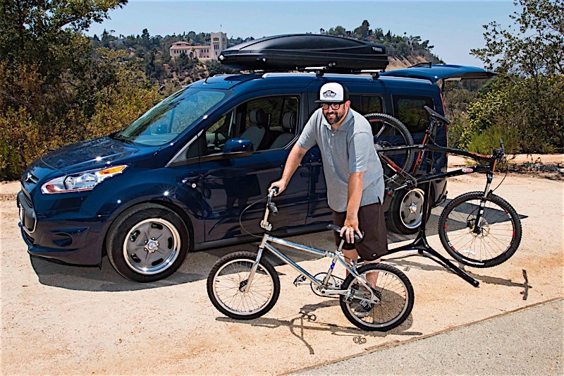 Transit Connect Wagon owner Devin Stovall and bikes