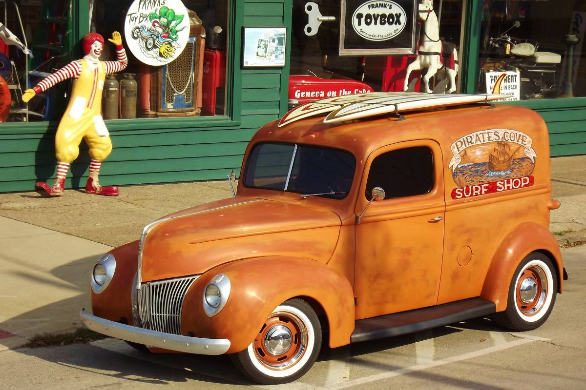 Craigslist Find Restored 1940 Ford Panel Delivery Truck 1941 Steering Column