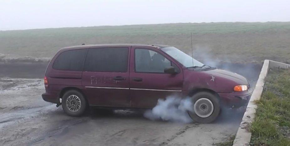 Best Ford Windstar burnout ever