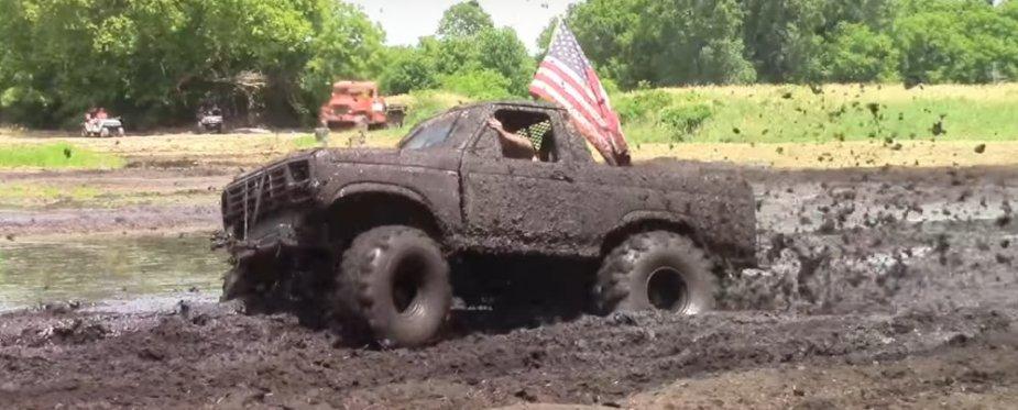3rd gen Bronco in the mud