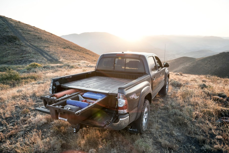 Decked truck bed storage system.