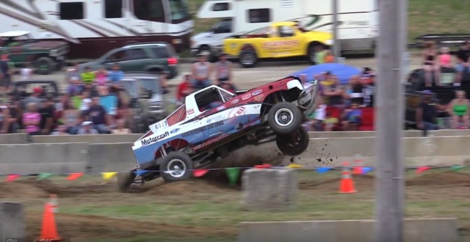 Bronco Race Truck Flying