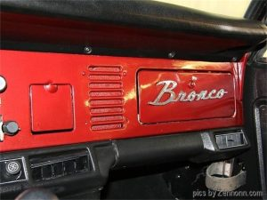 1973 Ford Bronco glove compartment