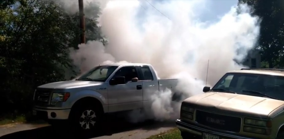 2013 F-150 Huge Burnout