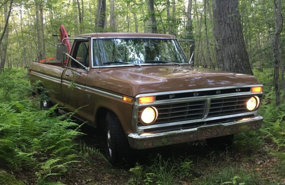 1975 F-250 Stuck in the Woods
