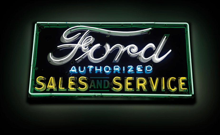 Sotheby's auction Ford Service sign