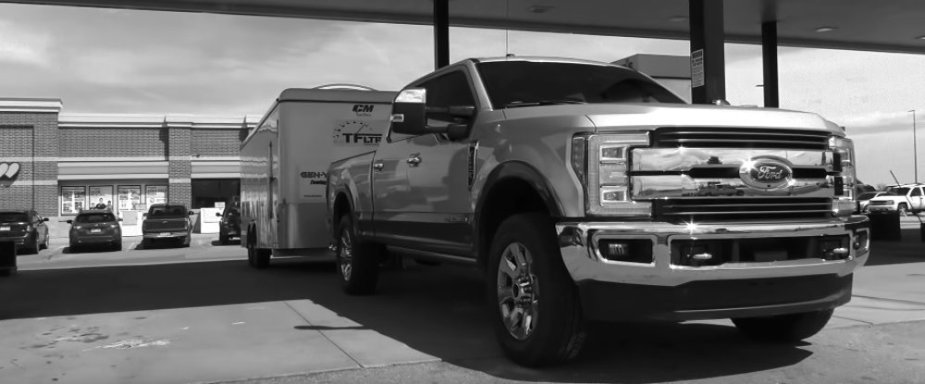 Ford F-250 Fueling Up