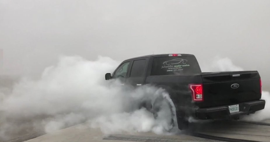 F-150 on 24s Burnout Rear
