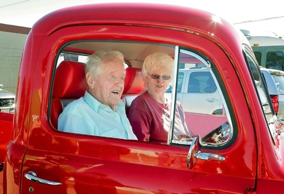 Jim and Melody Miller in their Ford F-1