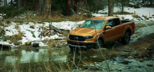 Ford Ranger in a Stream