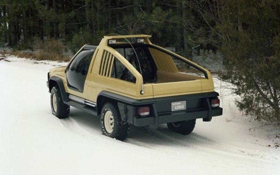 1981 Ford Bronco Montana Lobo Concept Rear Snow