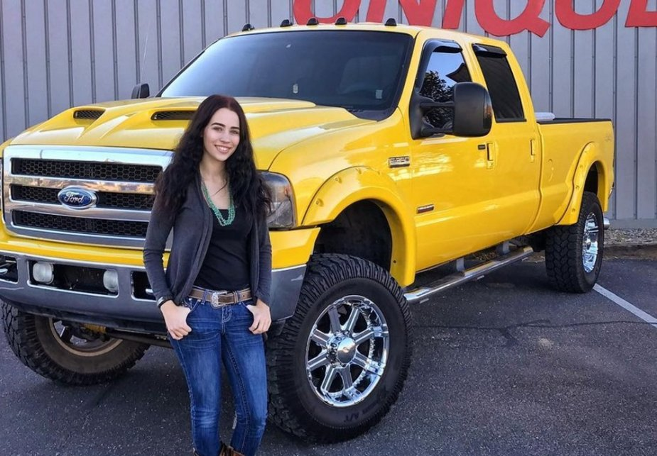 Shroyer with Her F-350