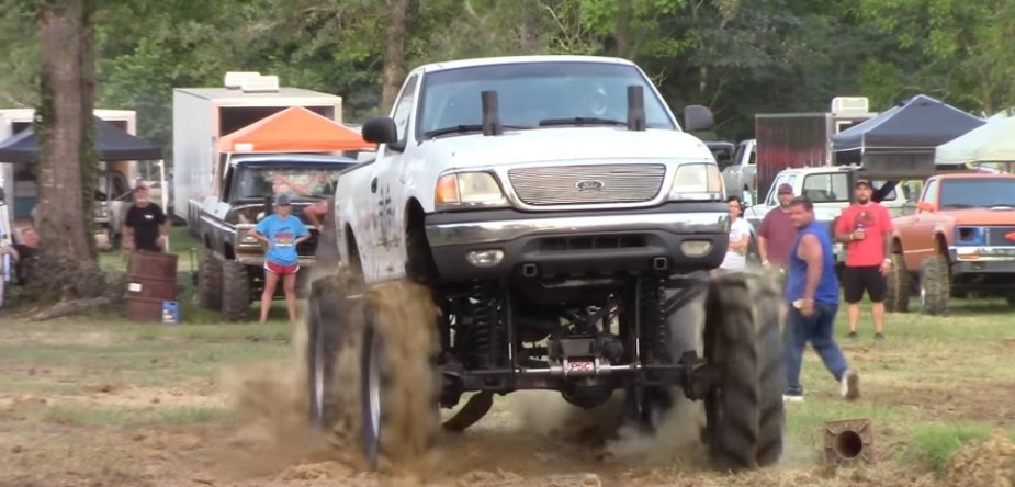 White Ford F-150 Mud Racer Front