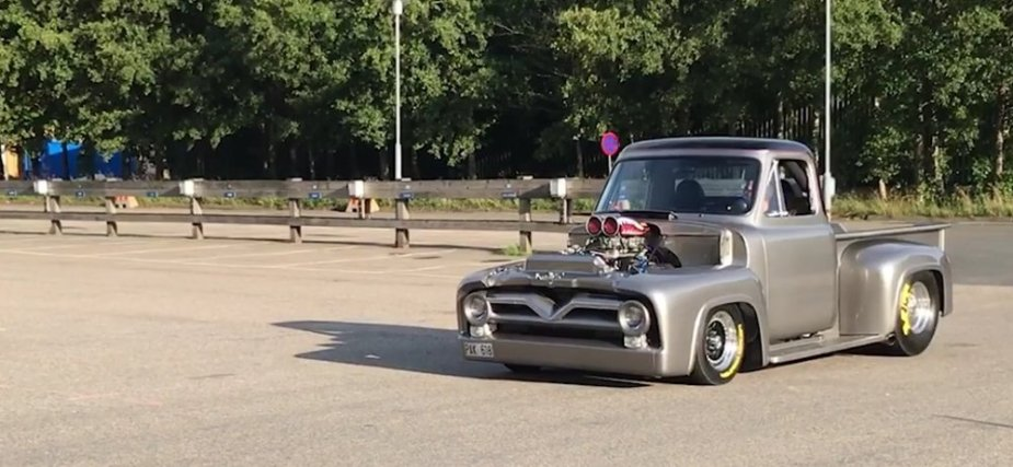 1955 Ford F-100 Burnout Front