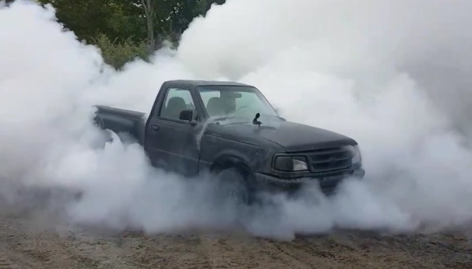 Ford Ranger Massive Cloud of Smoke
