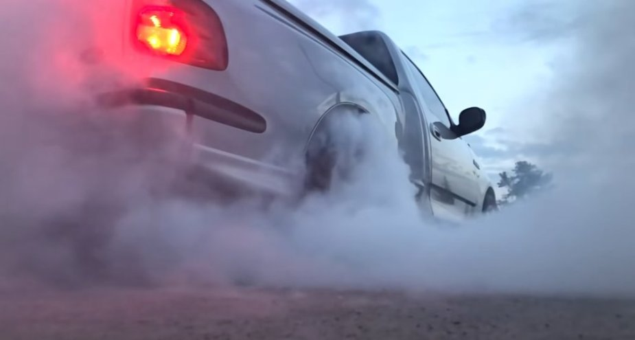 2001 Ford F-150 Lightning Burnout Rear
