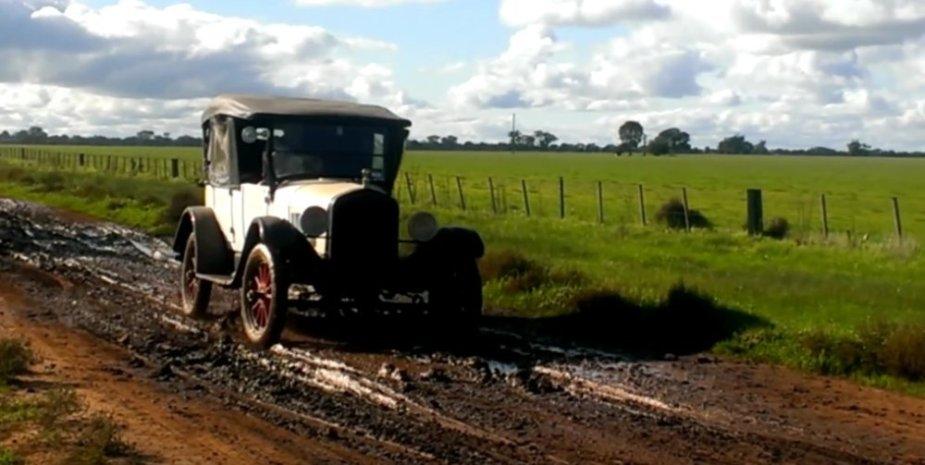 White Ford Model T
