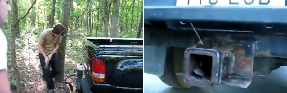 Ford Ranger Stuck Hitch Out