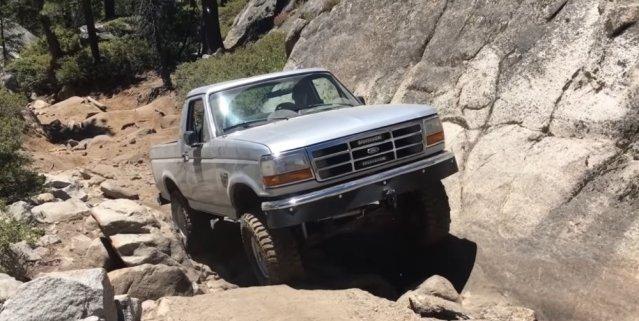 1996 Bronco Climbing Rocks