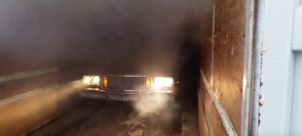 Ford Ranchero Shipping Container Burnout Emerging