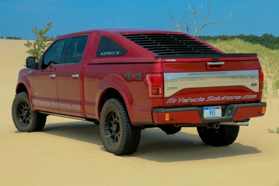 F-150 fastback style truck cap + AERO X