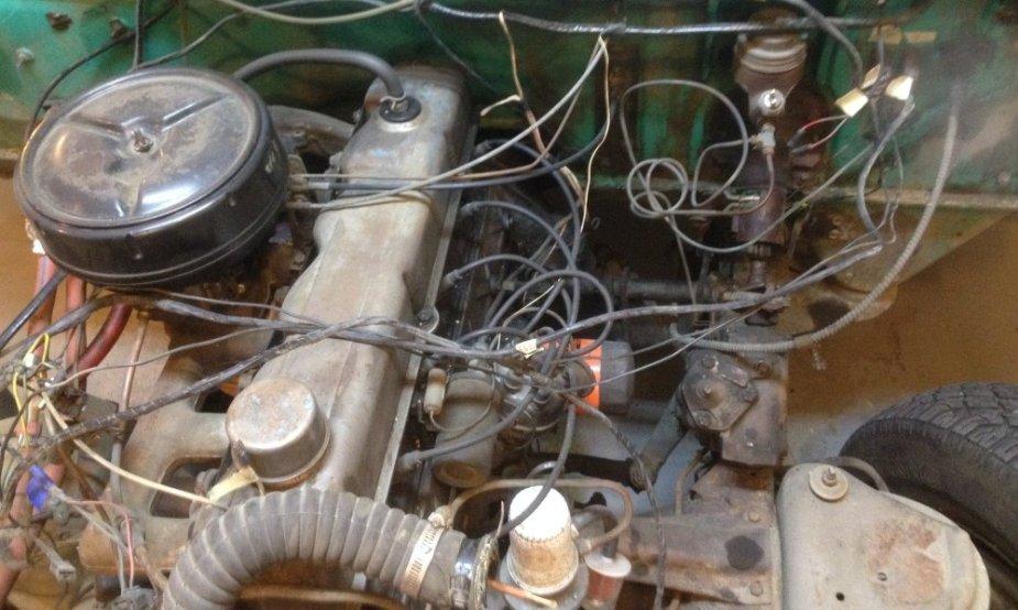 1965 Ford F-100 Engine Bay