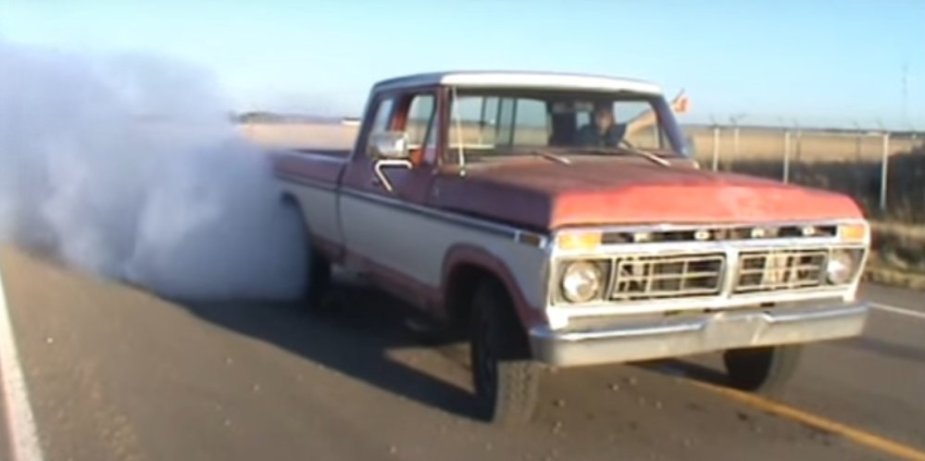1977 Ford F-150 Burnout Thumbs up