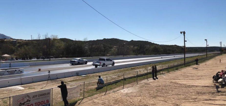 F-150 Racing a Mustang GT