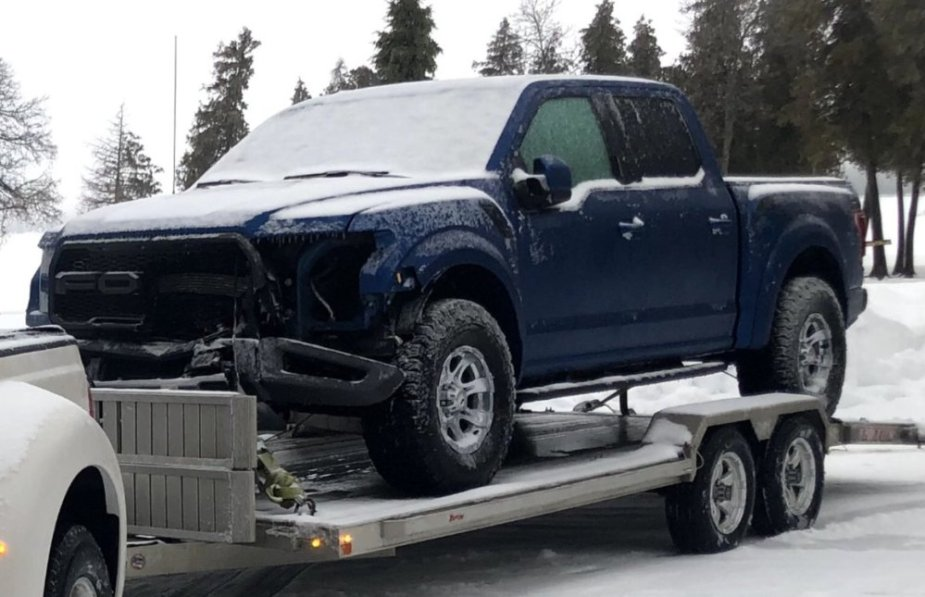 Wrecked Ford F-150 Raptor