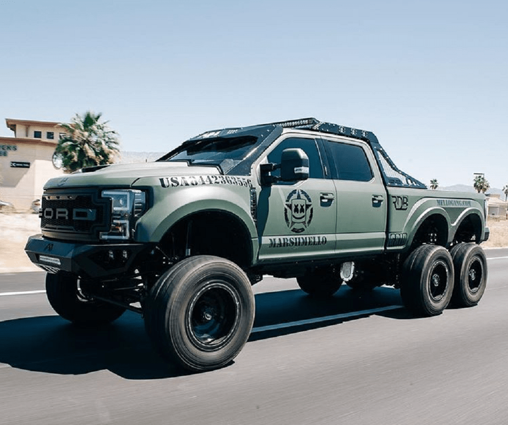 Small Ford Truck: DJ Marshmello's Custom Ford Truck Is All Tough, No Fluff